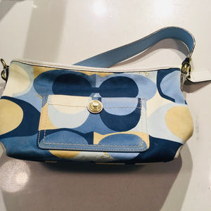 Coach Blue and Gold Purse